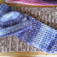 Crochet Blue Winter Hat and Scarf – Pattern Review