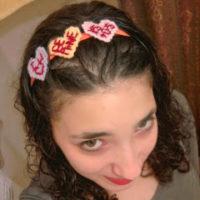 Valentine's Day Conversation Hearts on Elastic Headband – Alexandra Original – Inspiration and For Sale