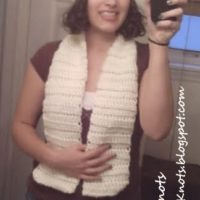 Creamy Softee Chunky Short Ribbed Scarf – FREE Crochet Pattern
