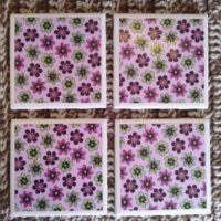 Ceramic Tile Coasters for Spring – Up on Etsy!