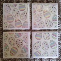 Ceramic Tile Coasters for Easter – Up on Etsy!