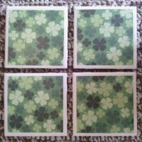 Ceramic Tile Coasters for St. Patrick's Day – Up on Etsy!