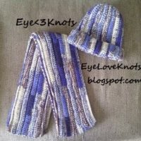 Blue Camo Adult Ribbing Scarf – Free Crochet Pattern