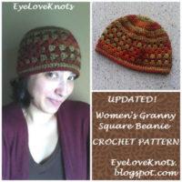 Women's Granny Square Beanie – Free Crochet Pattern
