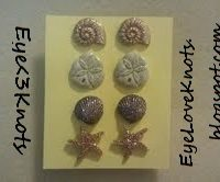 Seashell Button Studded Earrings. Perfect for Sensitive Ears, and the Summer!!