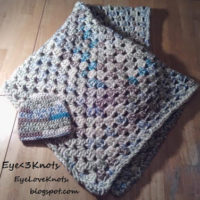 Summer Inspired Granny Square Baby Blanket and Hat – Free Crochet Patterns