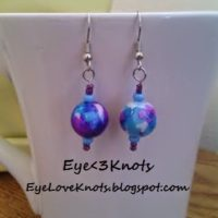 New Dangle Earrings up for Sale on Etsy! Limited Supply.