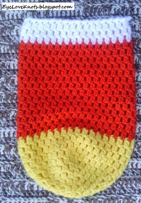 Crochet Candy Corn Newborn Bunting Cocoon Amp Hat Petals