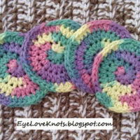 Rainbow Bright Round Facial Scrubbies – Free Crochet Pattern