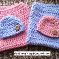 Crochet Mini Blanket 18″ x 18″ – Pink & Blue Twin Set – FREE Pattern