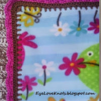 Crochet Edging for Anti Pill Fleece Girl Toddler Blanket – FREE Pattern – Plus Fabric Review
