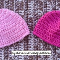 Crochet Newborn Basic Baby Beanie – With Everyday Soft – FREE Pattern