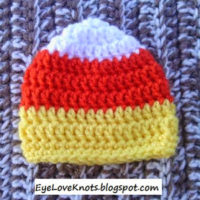 Crochet Preemie Candy Corn Hat – FREE Pattern – Plus Notes to Make in Any Size!