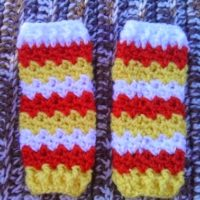 Crochet Candy Corn Colored Newborn Making Waves Legwarmers – Pattern REVIEW – A Crocheted Simplicity