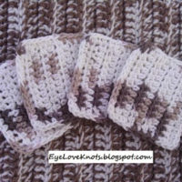 Sand Dune Square Facial Scrubbies – Free Crochet Pattern