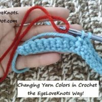 How to Change Yarn Colors in Crochet the EyeLoveKnots Way