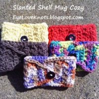 Crochet Slanted Shell Coffee Mug Cozy – Free Pattern