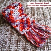 Lacy Camelot Child Scarf – Valentine Inspired – Free Crochet Pattern
