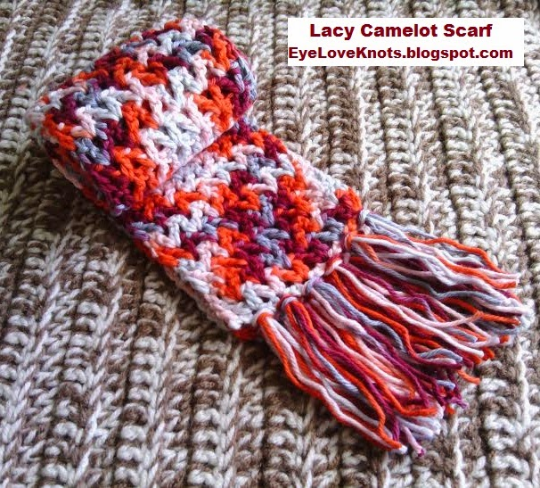 6a339f138 Lacy Camelot Child Scarf – Valentine Inspired – Free Crochet Pattern
