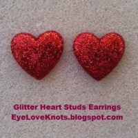 Easy DIY Glitter Heart Stud Earrings