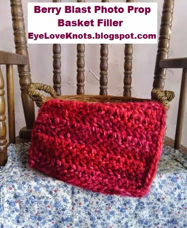 Berry Blast Small Photo Prop Basket Filler Free Crochet Pattern