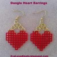 DIY Dangle Heart Earrings