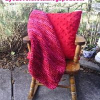 Berry Blast Mini Photo Blanket Free Crochet Pattern