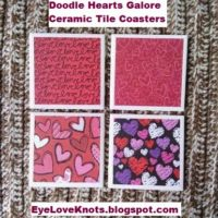DIY Doodle Hearts Galore Ceramic Tile Coasters – Valentine Inspired