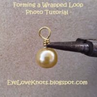 Forming a Wrapped Loop – Jewelry DIY