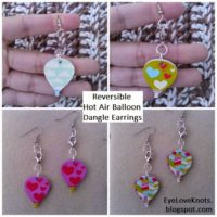 Reversible Hot Air Balloon Dangle Earrings – Easy Jewelry DIY