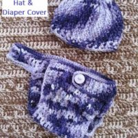 Ribbed Boy's Blues Baby Hat and Diaper Cover – Crochet by Jennifer – Review