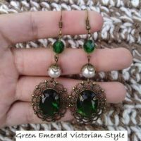 Green Emerald Victorian Filigree Drop Earrings – Easy Jewelry DIY