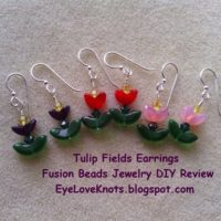 Tulip Fields Earrings – Jewelry DIY Review – Fusion Beads