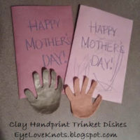 DIY Clay Handprint Trinket Dishes for Mother's Day