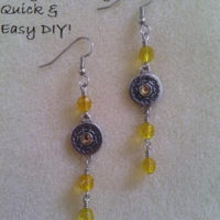Drops of Sunshine Dangle Earrings – Easy DIY