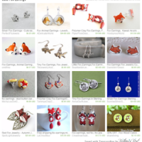 Cute Fox Earrings – Etsy Treasury Features
