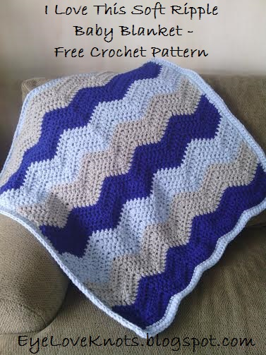 I Love This Soft Ripple Baby Blanket Free Crochet Pattern
