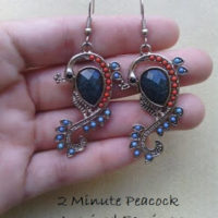 2 Minute Peacock Inspired Earrings! Quick and Easy Jewelry DIY
