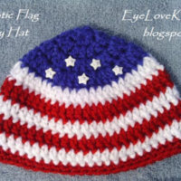 Patriotic Flag Hat in 3 Baby Sizes – Free Crochet Pattern