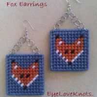 Plastic Canvas Fox Earrings – Jewelry DIY & Free Plastic Canvas Pattern