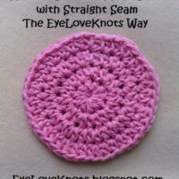 How to Crochet a Flat Circle & Keep a Straight Seam the EyeLoveKnots Way