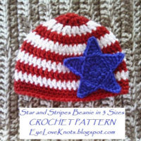 Star and Stripes Beanie in 3 Baby Sizes – Free Crochet Pattern