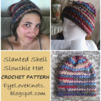 Slanted Shell Adult Slouchie Hat – Free Crochet Pattern