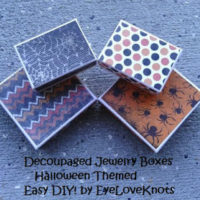 DIY Decoupaged Jewelry Boxes – Halloween Themed