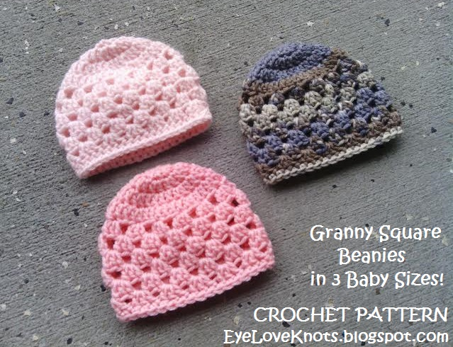Updated Granny Square Beanie In 3 Baby Sizes Free Crochet Pattern
