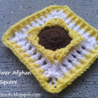 Sunflower Afghan Square – Free Crochet Pattern