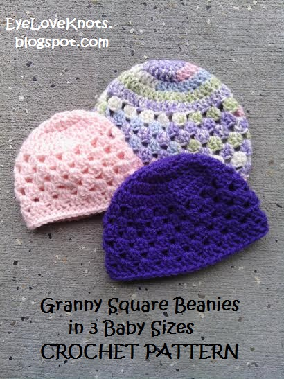 e51a1c0bd UPDATED! Granny Square Beanie in 3 Baby Sizes – Free Crochet Pattern