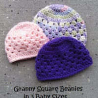 UPDATED! Granny Square Beanie in 3 Baby Sizes – Free Crochet Pattern