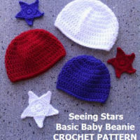 Seeing Stars Basic Baby Beanies in Celebration of Veterans Day – Free Crochet Pattern