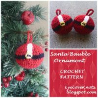 Santa Bauble Ornament – Free Crochet Pattern
